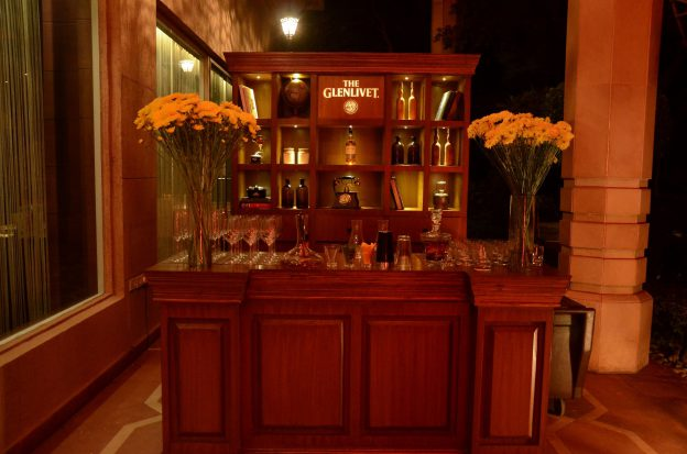 Bar set up at The Glenlivet Founder's Reserve at Varq,The Taj Mahal Hotel, New Delhi